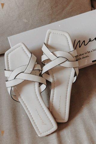 Shavon Braided Sandals in White