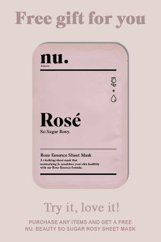 NU. beauty So Sugar Rosy Sheet Mask (1 pcs)