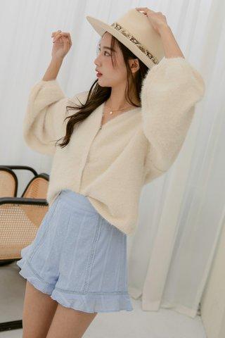Lucita Crochet Shorts in Blue