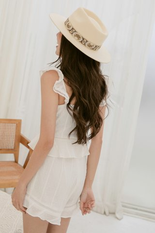 Lucita Crochet Top in White