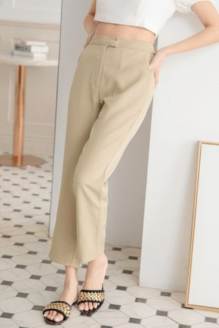 Jordyn Tapered Pants in Milky Green