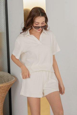 Casita Cozy Ribbed Set in White
