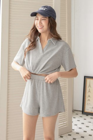 Casita Cozy Ribbed Set in Grey