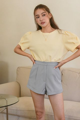 Puffy Sleeve Top in Yellow