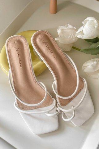 Derella Glass Heels in White