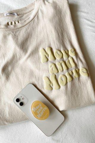'M Club Slogan Tee in Yellow (FREE Handphone Popsocket)