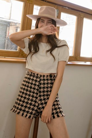 Wooly Houndstooth Shorts