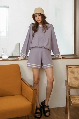 Kalle Knitted Shorts in Lavender