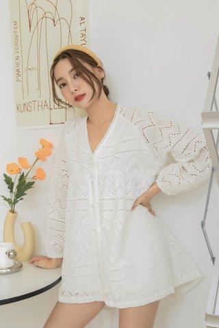 Dudu Crochet Babydoll Dress