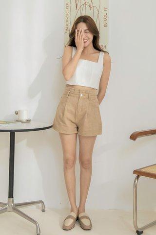 Brown Paperbag Shorts