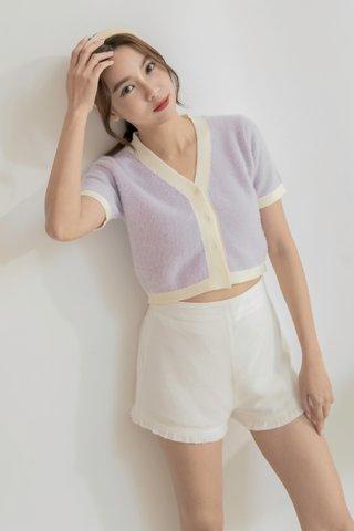 Nila Fluffy Crop Top in Lavender