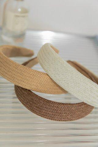 Summer Straw Headband in Beige