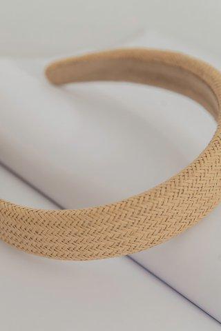 Summer Straw Headband in Cream