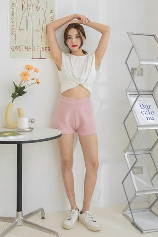Homey Knitted Shorts in Pink