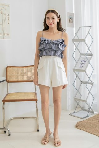 Zoey A-Line Shorts in White