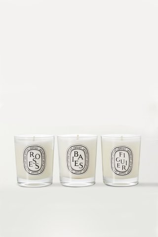 Diptyque - Baies, Figuier and Roses mini candles 3 x 70g