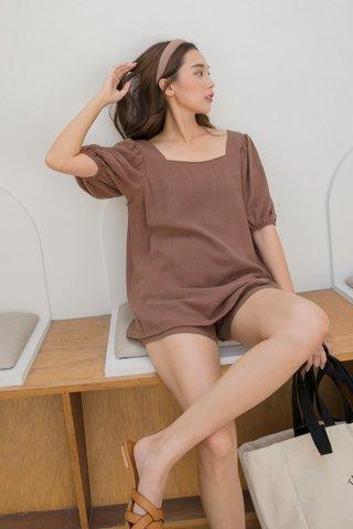 Grace Linen Set in Brown