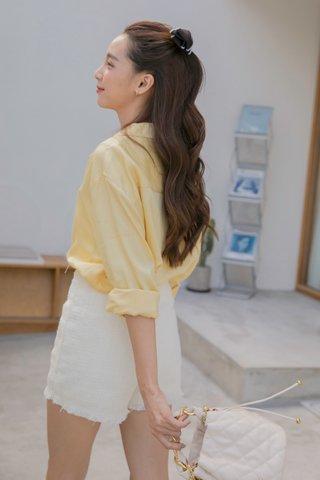 Melena Tassel Shorts in Cream